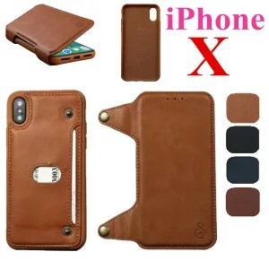 iPhone Notebook Type Leather Card Storage Cover Impact Whole Area Protection