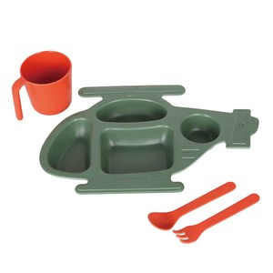 【DULTON ダルトン】M&B KIDS PLATE SET''HELICOPTER''