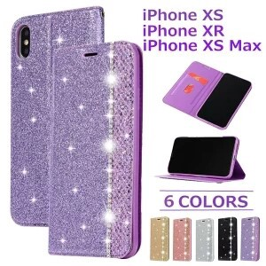 iPhone7 Plus Notebook Type Impact Whole Area Protection Glitter Rhinestone