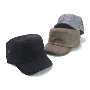 CORDUROY pin Checkered Military Cap Young Hats & Cap