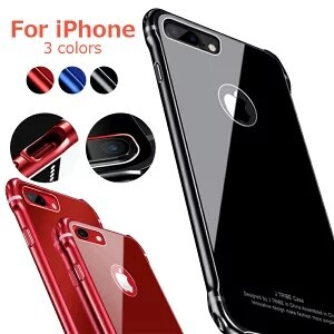 iPhone Plus Aluminium tempered glass Back Cover Attached Back Glass Back Panel Protection