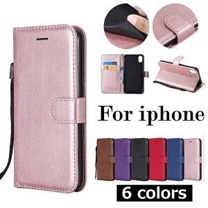 iPhone Notebook Type Cover Mobile Phone Case Strap Attached Smartphone Case Card Storage