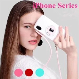 iPhone Plus Back Case Strap Attached Camera Model