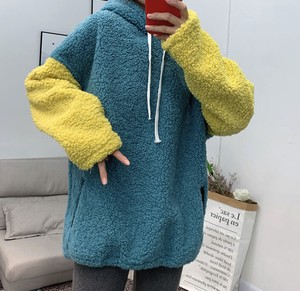 [2019NewItem] 2 Colors Fluffy Material Tray Hoody