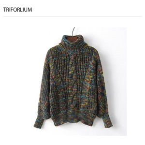 Cable Turtle Neck Knitted