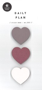 Journal Sticky Note SEAL Heart-shaped 50 Pcs Daily Plan