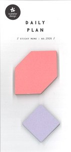 Journal Sticky Note SEAL Square Shape Bicolor 50 Pcs Daily Plan