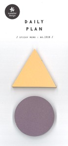 Journal Sticky Note SEAL Triangle Round shape Bicolor 50 Pcs Daily Plan