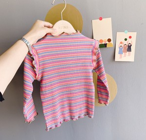 Top Children's Clothing Kids Girl A/W High Neck Frill Border Casual