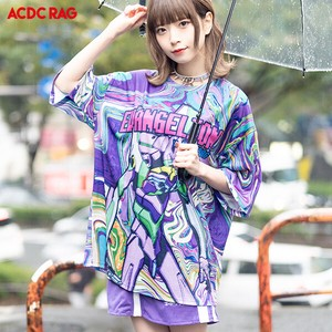T-shirt Evangelion Short Sleeve Top Cut And Sewn