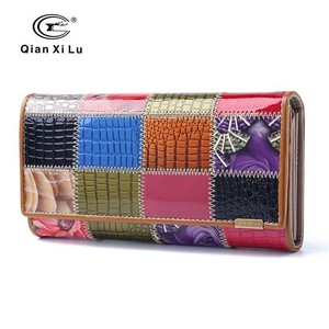 High Quality Genuine Leather Cow Leather Wallet Two Long Wallet For women Ladies