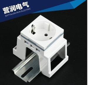 Standard Rail Mount Power Source Socket Scale Digital Socket Standard Card Rail Socket