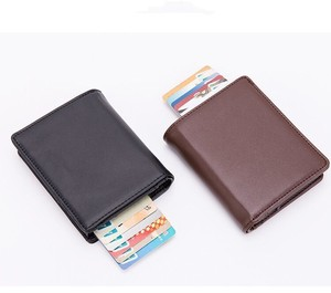 High Quality Cow Leather Card Wallet Two Wallet Card Holder for Men Men's