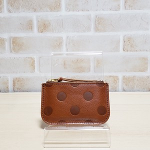 Cow Leather Dot Coin Purse