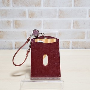 Cow Leather Commuter Pass Holder Attached
