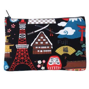 Japanese Style Print Pouch 2 Colors Assort