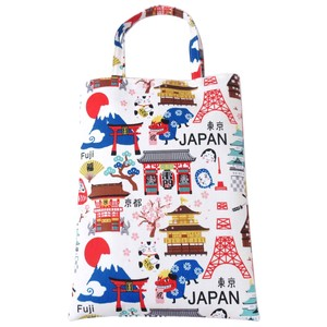Japanese Style Print A4 Tote Bag ,Polyester Handbag 2 Colors Assort