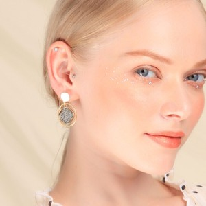 Elegant Round Pierced Earring 2 Colors