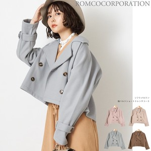 A/W Early Spring Color soft Short Trench Coat