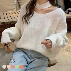 Top Knitted Ladies Plain Knitted A/W Neck Top