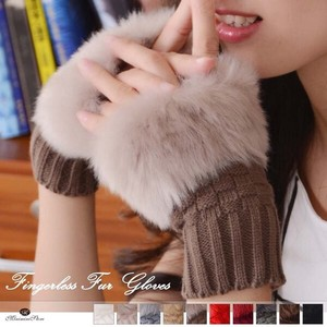 Smartphone Glove Ladies Hand Warmer Fur
