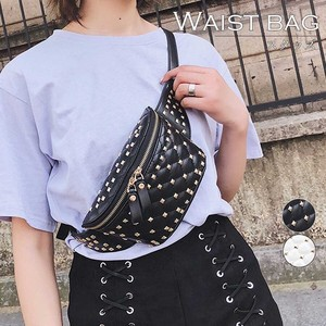 Waist Pouch Ladies Waist Bag Leather Bag Diagonally Studs Bag