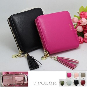 Wallet Multiple Functions Wallet Ladies Two Fastener Tassel Attached