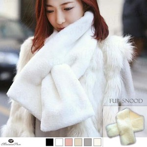 Fake Fur Scarf Ladies Fluffy Stole Fluffy