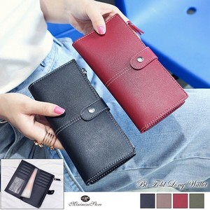 Wallet Ladies Long Wallet Long Wallet Leather Wallet Wallet Plain