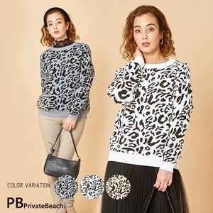 Leopard Knitted Top