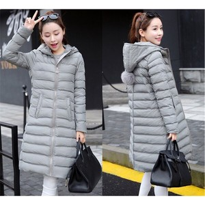 Down Coat Long Ladies Down Jacket Long Coat Outerwear Gray