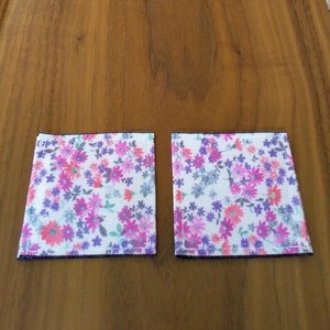 Floral Pattern Objects and Ornaments Ornament Coaster 2 Pcs 1 Set