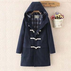 Long Coat Ladies Coat Duffle Coat Ladies A/W Outerwear Blue