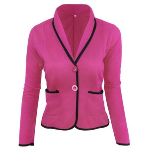 Coat Ladies Short Tailored Jacket Chesterfield Coat Short Rose Red