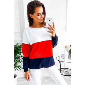 Crew Neck Last Color Long Sleeve Casual Red