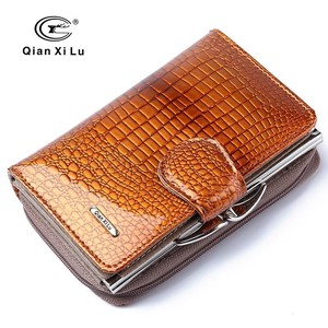 Genuine Leather Cow Leather Wallet Two Long Wallet For women Ladies