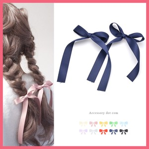 2Pcs set Long Ribbon Hair Clip