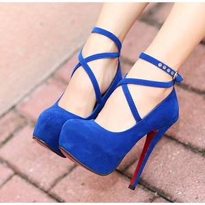 Pumps High Heel Suede Heel Pumps Pumps Strap
