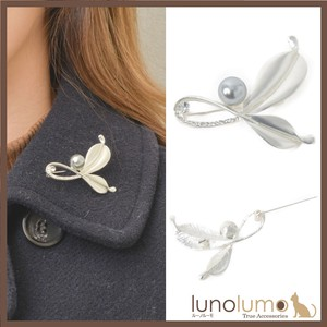 Brooch Ladies Pearl Gray Pearl Metal Silver Elase Casual Present