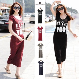 Shirt One-piece Dress Short Sleeve Thin Long One-piece Dress