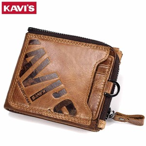 High Quality Men Genuine Leather Cow Leather Two Wallet Wallet