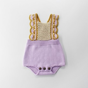 Girl Knitted Rompers Baby Cover All All-in-one Children's Clothing