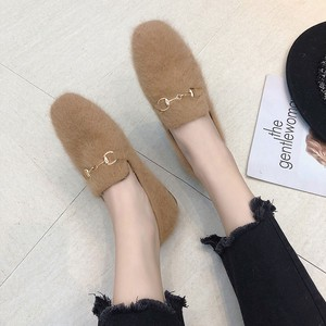 [ 2020NewItem ] Fur Pumps Ladies Shoes A/W Shoe Pumps Flat Pumps