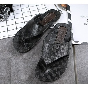 [ 2020NewItem ] Flip Flop Sandal Men's Brand Leather Outdoor Good Shoe Shoes