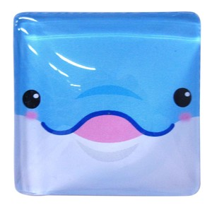Fancy Stationery Daily Necessity Interior Accessory Square Magnet Dolphin Blue