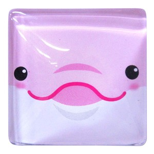 Fancy Stationery Daily Necessity Interior Accessory Square Magnet Dolphin Pink