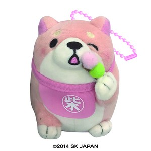 """Mochishiba"" Shiba Inu Dog Soft Toy Ball Chain Cherry Blossoms Dango"
