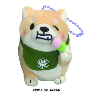 """Mochishiba"" Shiba Inu Dog Soft Toy Ball Chain Dango"