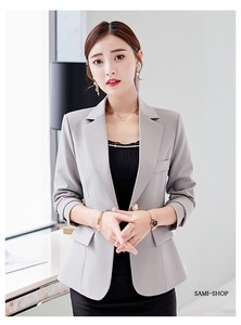 Tailored Jacket Ladies Suits Jacket Gray