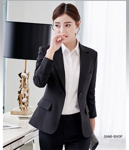 Tailored Jacket Ladies Suits Jacket Black